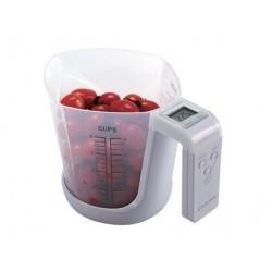 Balanza con vaso medidor para líquidos Sensa