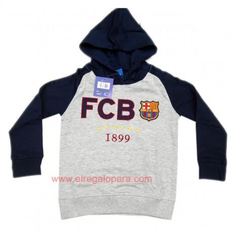 Sudadera Fútbol Club Barcelona niño con gorro