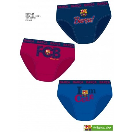 Calzoncillos Slip FC Barcelona niño 3und