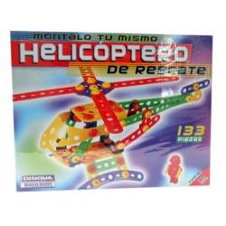 Monta tu helicóptero de rescate 133 piezas