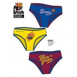 Pack 3und braguitas niña FC Barcelona tallas 6 a 12años