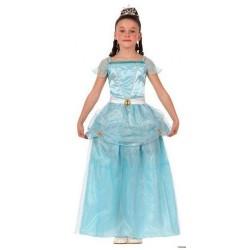 Disfraz niña princesa azul 5 a 9 años