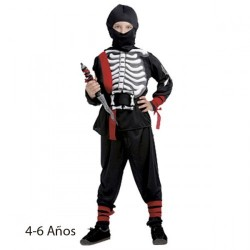 Disfraz infantil ninja esqueleto 4-6 años