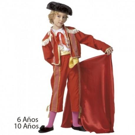 Disfraz infantil torero 6 a 10 años