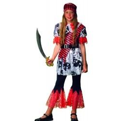Disfraz infantil niña pirata 6 años