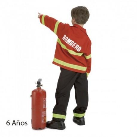 Disfraz infantil bombero 10 años