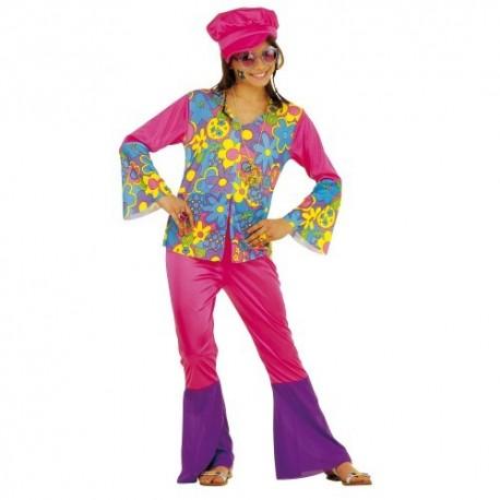 Disfraz niña hippie 8 a 13 años