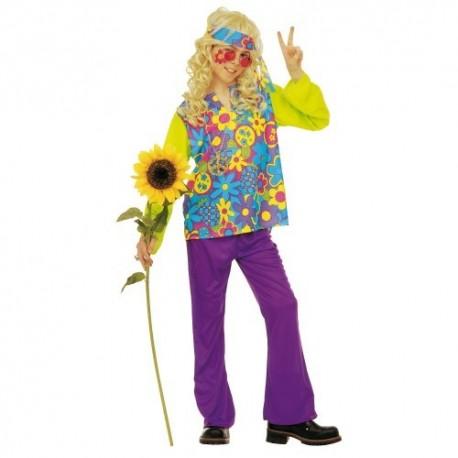 Disfraz niño hippie 8 a 13 años