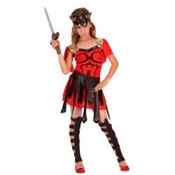 Disfraz niña guerrera romana 7 a 12 años