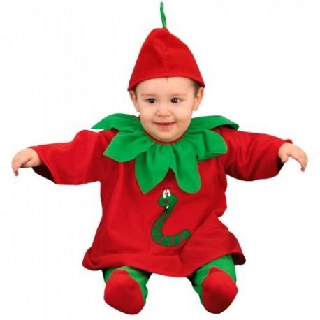 Disfraz bebé manzanita 7-12 meses