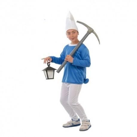 Disfraz infantil enanito pitufo 4 a 12 años