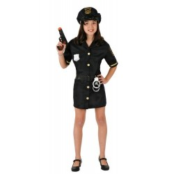 Disfraz infantil niña policía 7 a 12 años