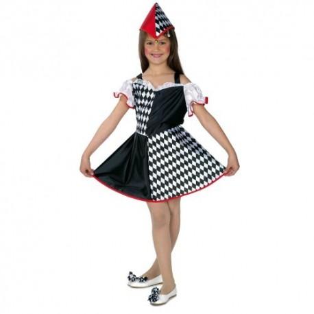 Disfraz niña arlequín 5 a 11 años