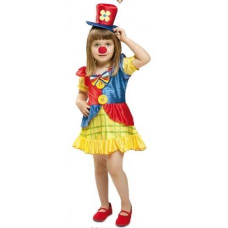 Disfraz payaso niña 1 a 4 años