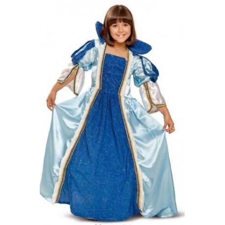Disfraz infantil princesa azul 1 a 6 años