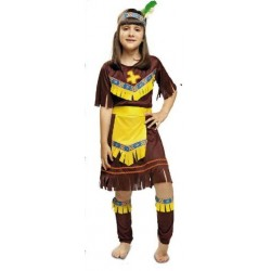 Disfraz infantil niña india 1 a 9 años