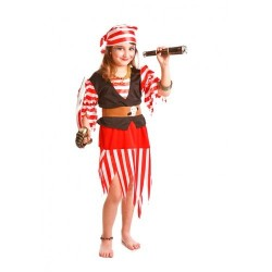 Disfraz infantil pirata niña 4-12 años