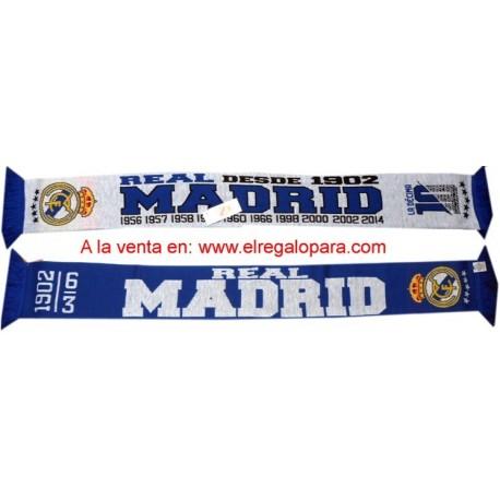 Bufanda Real Madrid doble LA DECIMA