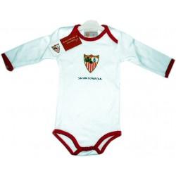 Body bebé Sevilla Fútbol Club manga larga