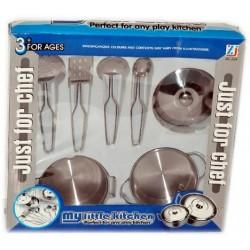 Juego de cocinita 7 piezas plástico