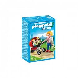 Playmobil 5573 Mamá con Carrito de Gemelos