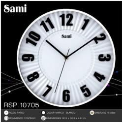 Reloj de pared Sami marco blanco 30,5cm diámetro - Comprar tienda pared