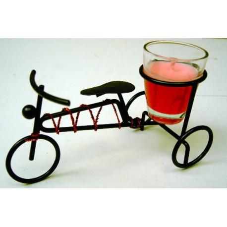 Triciclo portavelas