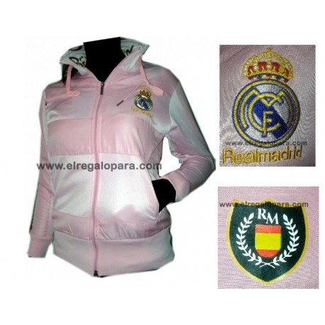 Sudadera Real Madrid rosa mujer