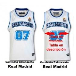Camiseta baloncesto Real Madrid