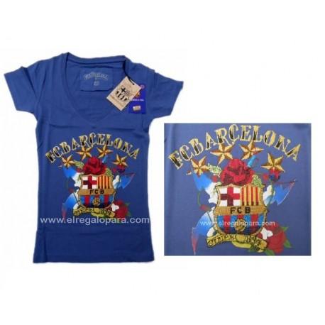 Camiseta Fútbol Club Barcelona Mujer pedrería