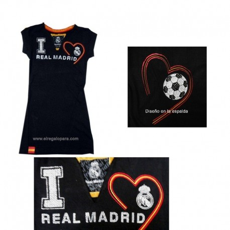 Camiseta Mujer pedrería Real Madrid