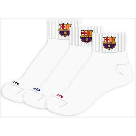 Pack 3und calcetínes Barcelona FCB Tallas de 32 a 43