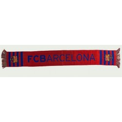 Bufanda del Fútbol Club Barcelona 140x20cm rojo