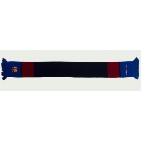 Bufanda doble del Fútbol Club Barcelona 150x18cm Vertical