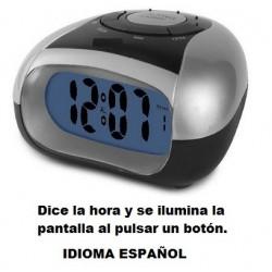 Reloj Despertador parlante especial problema de visión o ciegos once