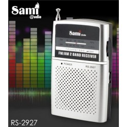 Radio transistor Sami RS2927 AM/FM tamaño bolsillo