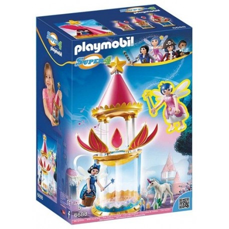 Playmobil 6688 Torre Flor Mágica con caja musical y Twinkle Playmobil Super4