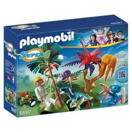 Playmobil 6687 Isla Perdida con Alien y Raptor Playmobil Super4