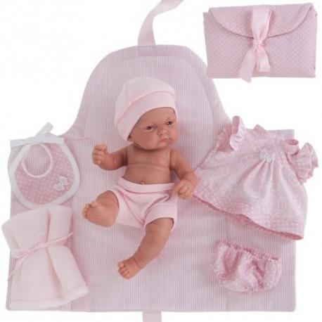 Mu eca antonio juan pita cambiador rosa 26cm comprar - Comprar cambiador bebe ...