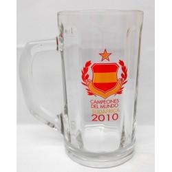 Jarra cerveza España 0,4l Campeones mundo 2010