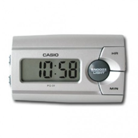 Despertador digital Casio PQ-31 plateado