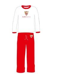 Pijama Sevilla Fútbol Club invierno niño Tallas 2 a 14