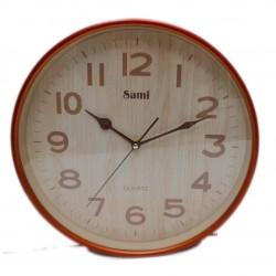 Reloj de pared Sami marco madera claro 30cm diámetro