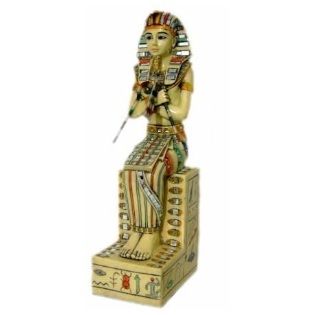 Figura egípcia Rey Tutankamon