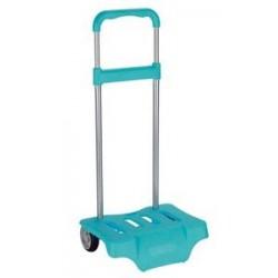Carro turquesa Safta para mochilas de 43 y 38 cm