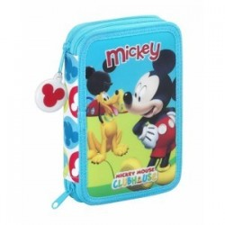 PLUMIER DOS PISOS 34 pcs MICKEY CLUBHOUSE