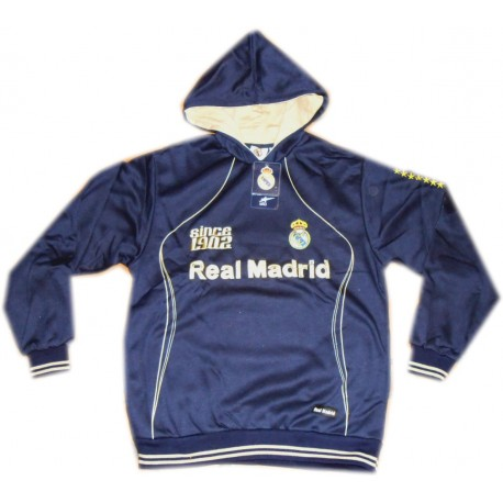 Sudadera Real Madrid adulto azul/dorado