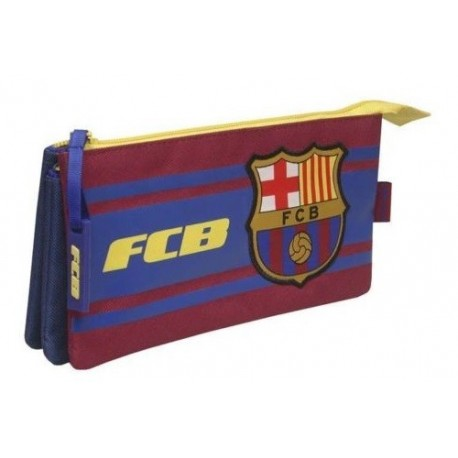 Estuche portatodo Fútbol Club Barcelona triple