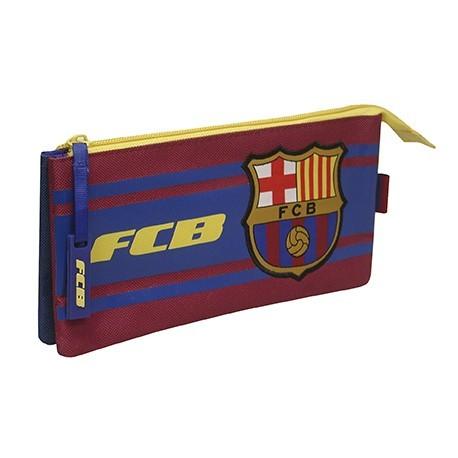 Estuche portatodo Fútbol Club Barcelona doble