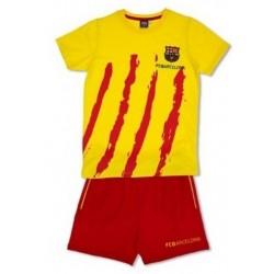 Pijama niño del Fútbol Club Barcelona verano Senyera
